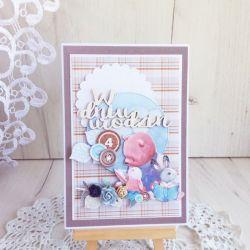 Kartka w pudełku Boy's Little World 2 GOTOWA