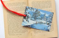 Vintage zakładka do książki zimowa 2