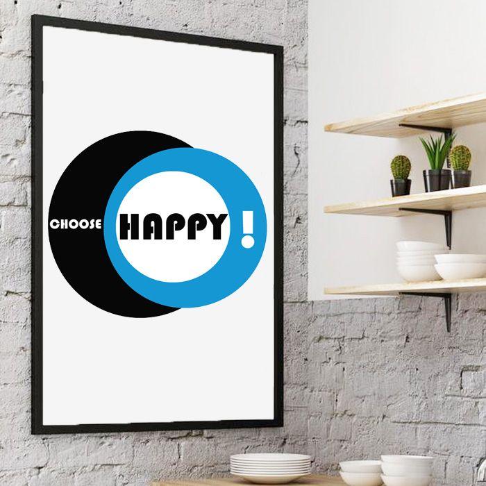 Plakat Choose Happy