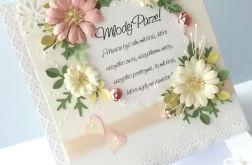 Pastelowe Kwiaty-kartka ślubna w pudełku