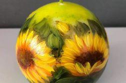 Świeca w kształcie kuli-słoneczniki