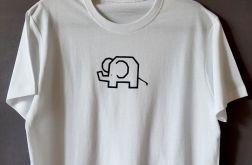 Koszulka ręcznie malowana słonik