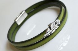 Bransoletka green leather *