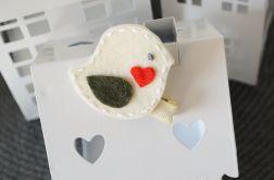 FairyBows * spinka PTASZEK kremowy + khaki