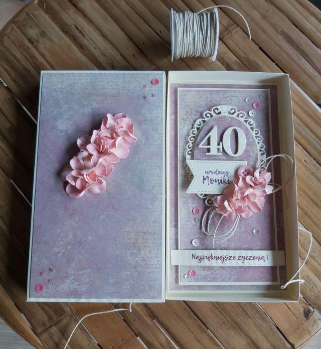 40 urodziny z kwiatami -