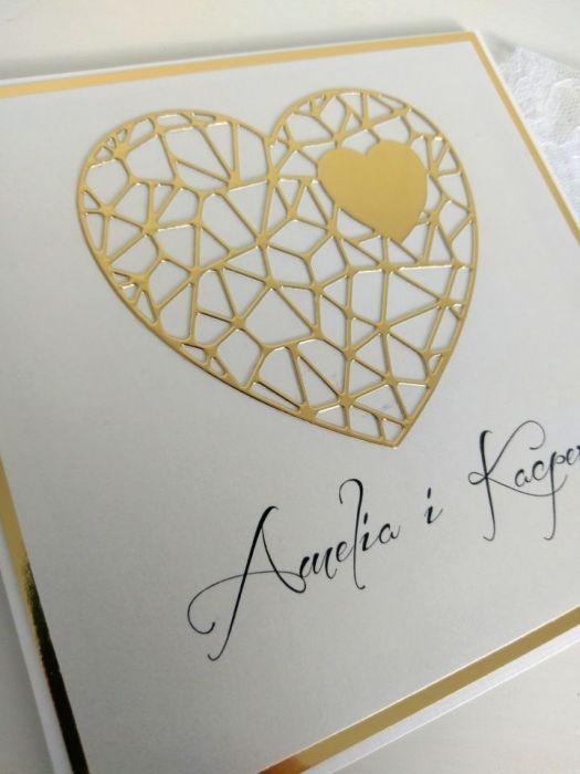 Zaproszenia na ślub eleganckie -