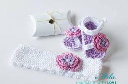 Komplet niemowlęcy Flowers Bawełna