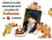 Zaproszenie na urodziny dziecka ze zdjęciem na 2,3,4,5,6,7,8,9 itd Wesołe smoki