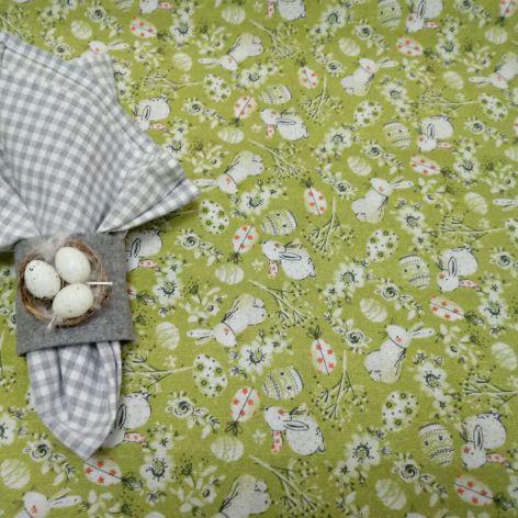 Kwadratowy obrus 85x85 cm zielony - Wielkanoc