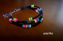 enetka - BRANSOLETKA- rzemień - 4 kolory - SKÓRA