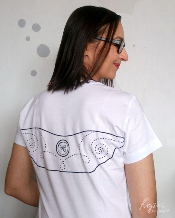 Anielska koszulka ze skrzydłami biała M