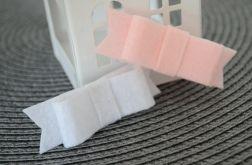 FairyBows SPINECZKI kokardki 2 szt. biała + różowa
