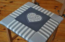 Poduszki na krzesła,siedziska- serce w nutki 4szt