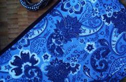 Kosmetyczka bawełniana niebieska paisley