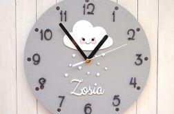 Zegar dla dziewczynki z chmurką