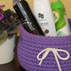 Koszyk bawełniany (fioletowy)