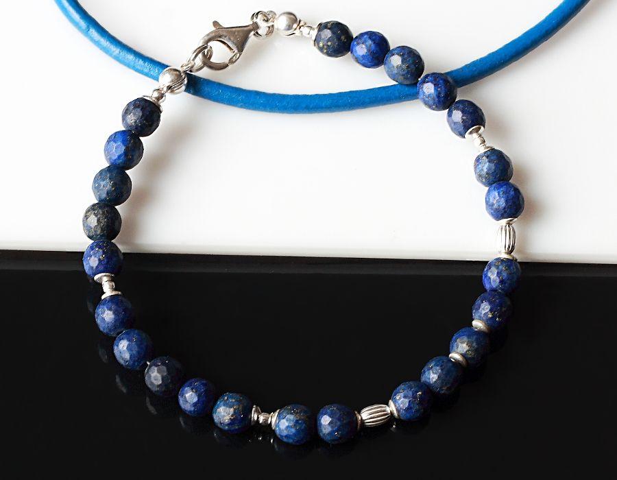 Bransoletka z lapis lazuli