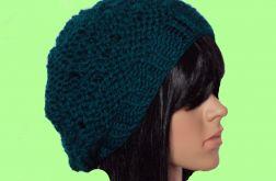 turkusowy beret