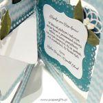 Niebieska Pamiątka Chrztu ręcznie robiona - Pamiątka chrztu chłopca