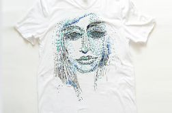 Biała koszulka XL z  grafiką - face 1