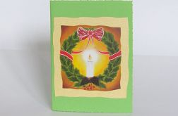 Kartka świąteczna ze świecą 1