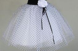 Spódniczka tiulowa baletowa w kropki + spinka