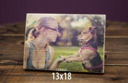 Zdjęcie na drewnie-Zdrewniała Fotka 13x18