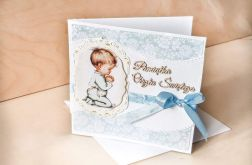 Kartki na chrzest,kartka na chrzest- chłopiec