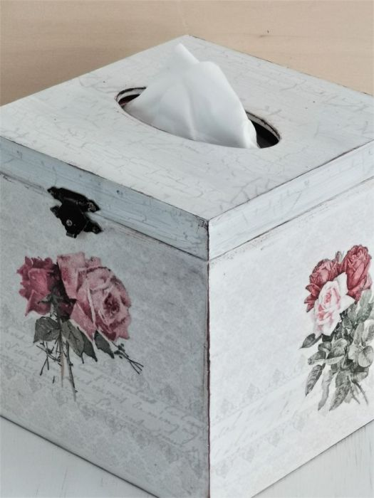 Chustecznik róże vintage - chustecznik vintage