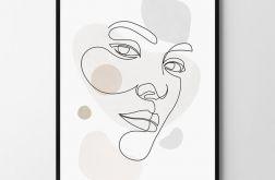 Plakat obraz Face 50X70 B2