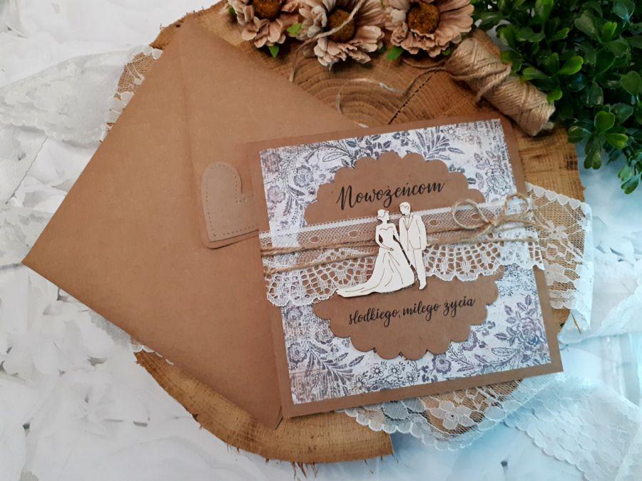 Rustykalna kartka na ślub 06