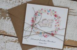 Kartka na chrzest z kopertą - życzenia i personalizacja 2c