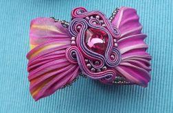TROPICAL pink BOREALIS Shibori bransoletka
