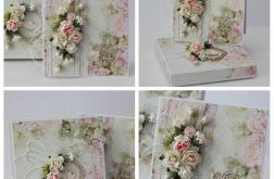 Kartka z pudełkiem zestaw ślubny B2