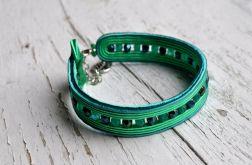 Bransoletka wąska zielona