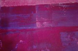 Obraz abstrakcja różowy 40x40
