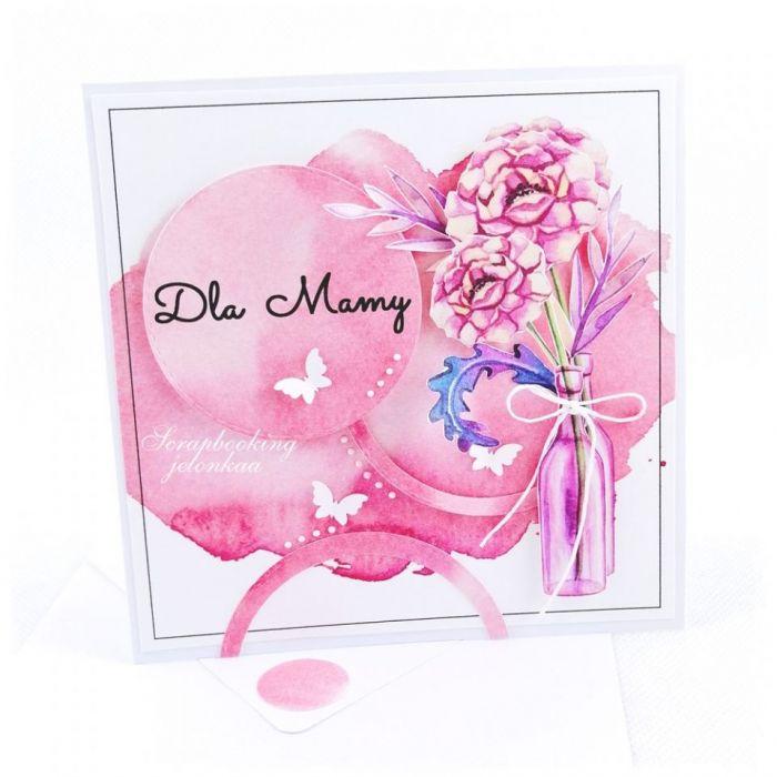 BUKIET W BUTELCE - KARTKA DLA MAMY #2