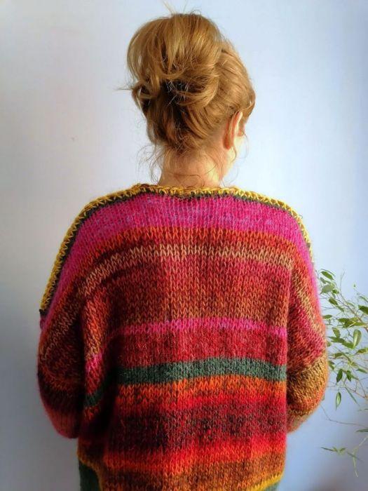 multikolor sweter -