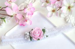 Nomma Opaska niemowlęca CHRZEST kwiatki 002