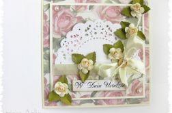 Kartka urodzinowa z różyczkami