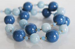 Naszyjnik z kamieni naturalnych - błękitny