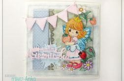 Urodzinowa kartka dla małej Księżniczki