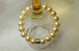 66. Bransoleta z pereł szklanych 10mm
