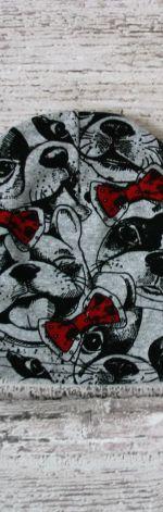 Czapka Psy rozmiar 38-44 cm(beanie)