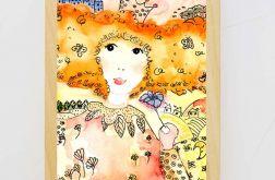 Królewna, ilustracja dziecięca, wydruk A4
