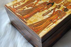 szkatułka z przegródkami egipska