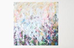 Obraz ręcznie malowany 100x100 abstrakcja