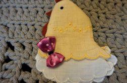 żółta kurka na jajko wielkanocne