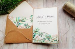Zaproszenia ślubne rustykalne kwiaty 02
