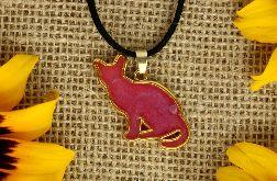 Wisior Różowy kot